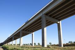 bridge pillars - stock photo
