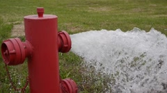 Fire hydrant very high pressure Stock Footage