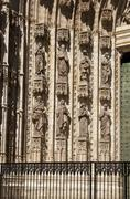 sculptures in seville cathedral - stock photo