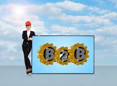 B2b symbol Stock Illustration
