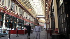 London Leadenhall market - stock footage