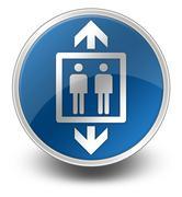 icon, button, pictogram elevator, lift - stock illustration