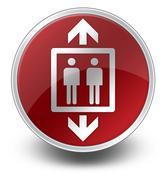 Icon, button, pictogram elevator, lift Stock Illustration