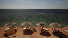 Pan of Fanar Beach. Sharm El Sheikh, Egypt - stock footage