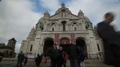 Cathedral time lapsed in Paris France artist district 2013 Stock Footage