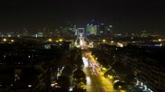Freeway In Paris At Night Time Lapse 27 Stock Footage