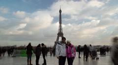 Eiffel Tower Scene ,Paris, France Time Lapse 18 Stock Footage