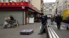 Street Life In China Town ,Paris France,Time Lapse 16 Stock Footage