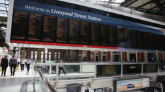 Liverpool Street Station - train - stock footage