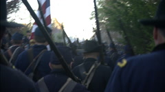 Union Soldiers with flag Stock Footage