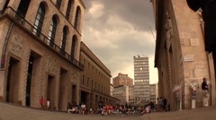 Point of view on Torre Velasca, Milan - Italy Stock Footage