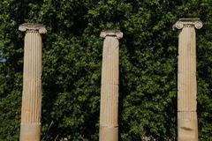 Dorian columns Stock Photos