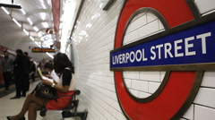 Liverpool Street undergound station in London - stock footage