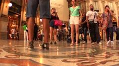 Balls of the bull Milan Galleria Vittorio Emanuele (Time Lapse) Stock Footage