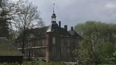 Hackfort Castle, a medieval estate in Vorden, The Netherlands Stock Footage