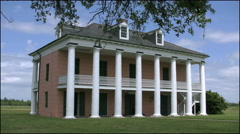 Louisiana Chalmette plantation house with branch 4k Stock Footage