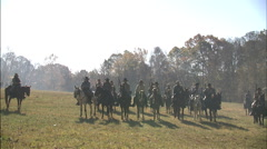 Confederate's on horses Stock Footage