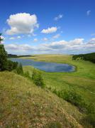 Lake Avras (Khakassia) summer view  - stock photo