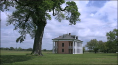Louisiana Chalmette plantation house with tree 4k Stock Footage