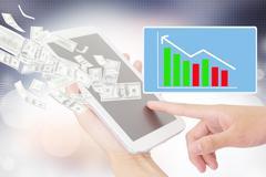 Businessperson Using A Digital Tablet - stock illustration