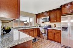 kitchen room with window - stock photo
