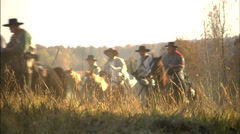 Soldiers riding horseback Stock Footage