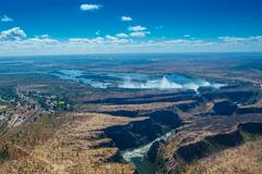 Victoria Falls Super Wide Shot Stock Photos