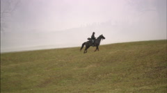 Soldier riding to battle Stock Footage