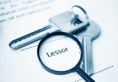 Lease Agreement For Lessor Signing - stock photo