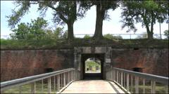 Louisiana Fort Jackson closed entry 4k Stock Footage
