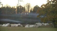 Civil war base camp Stock Footage