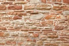 Antique natural stonewall Stock Photos