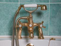 Vintage bath taps Stock Photos