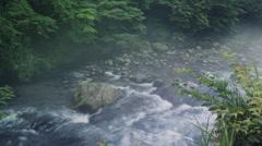 River Mist Timelapse. 0003 Stock Footage
