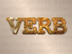 verb action concept - stock illustration