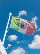 waving italian flag - stock photo