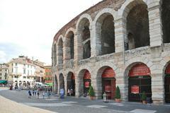 verona arena - roman amphitheatre in verona, italy - stock photo