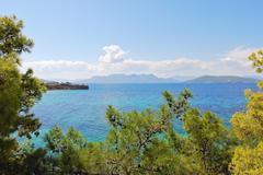 Saronic gulf of aegean sea near athens, greece Stock Photos
