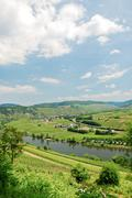 View of moselle valley and mosel river Stock Photos