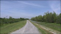 Louisiana levee and marshy ground 4k Stock Footage