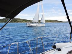 Yachting in adriatic sea, dalmatia, croatia Stock Photos