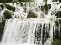 Cascade of waterfall in kornati region, dalmatia Stock Photos
