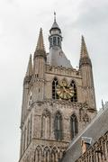 The tower of ypres cloth hall flanders belgium Stock Photos