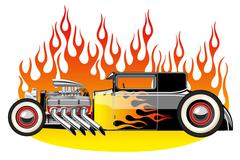 Hot rod Stock Illustration