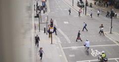 Reflected pedestrian cross walk, London 4K Stock Footage