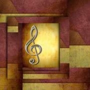 Treble clef staff Stock Illustration