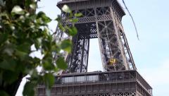 Eiffel Tower First Floor Stock Footage