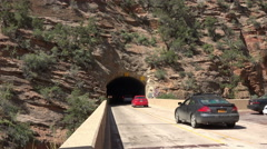 Zion NP Mount Carmel Tunnel southern Utah fast 4K 161 Stock Footage