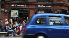 McDonalds restaurant in London Stock Footage