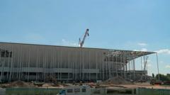 Building works of New UEFA euro 2016 Stadium in Timelapse 4 - stock footage
